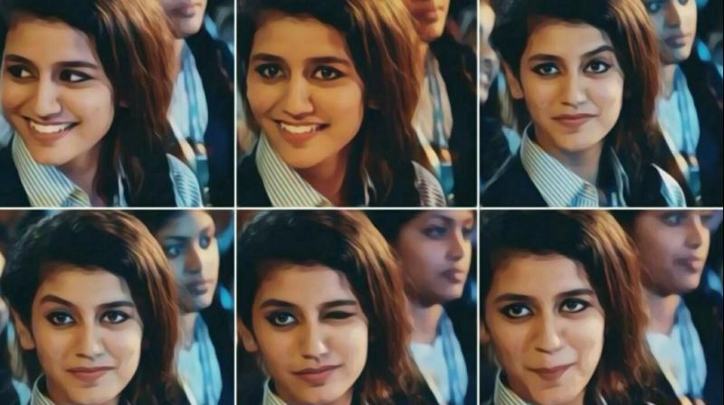 Priya Prakash Varrier's expressions in the viral video.