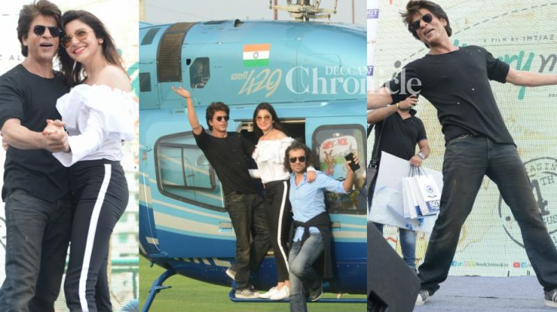 The team of 'Jab Harry Met Sejal' took Shah Rukh Khan's hometown Delhi by storm during the promotions of the film at a university on Thursday. (Photo: Viral Bhayani)