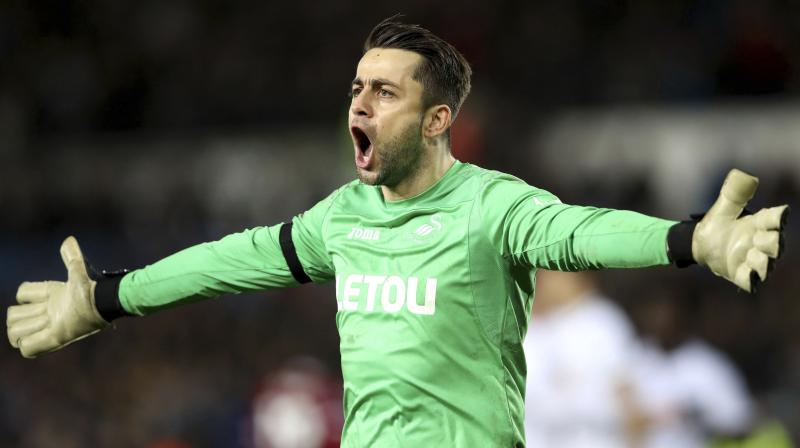 The 33-year-old Fabianski has left Swansea, which was relegated from the Premier League at the end of last season, to join West Ham on a three-year deal. (Photo: AP)