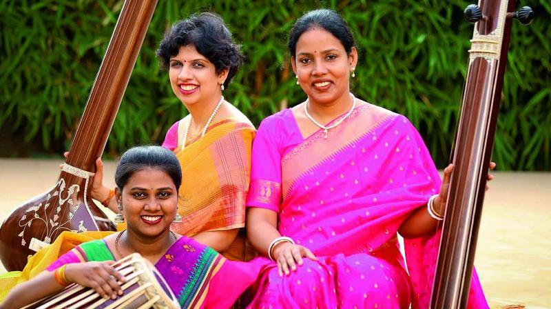Anuja Borude, Janhavi Phansalkar and Amita Sinha Mahapatra.