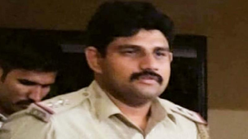 Sub-Inspector Srikanthe Gowda, who used third-degree methods to punish an alleged sex offender. (Photo: DC)