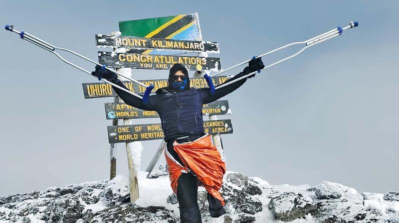 Neeraj George Baby at Mt Kilimanjaro