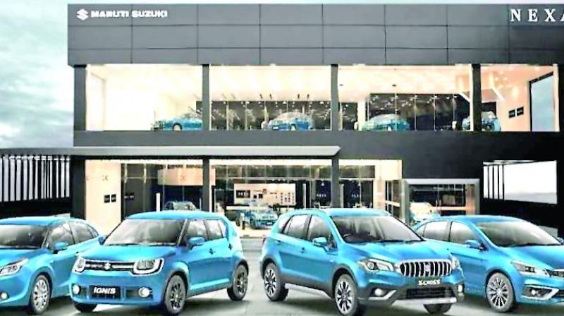 Maruti, which sells one out of two cars bought in the country, sold 2.3 per cent more cars to 1,39,121 units last month against 1,35,948 units sold in October last year.