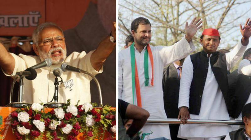 In the quest for scoring a brownie point in the eyes of the electorate, the national leaders took lead in making headlines by hook or by crook. (Photo: PTI)
