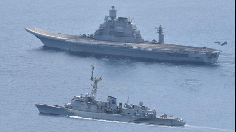 Indo-French bilateral naval exercise 'Varuna-19'. (Photo: File)