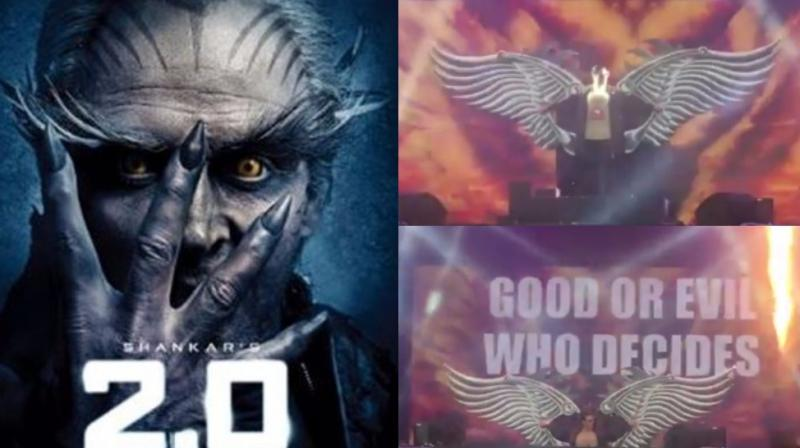 Akshay Kumar's look in '2.0' and screengrabs from the video.