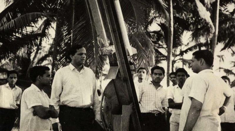Dr V.N. Krishnamurthy near the launchpad