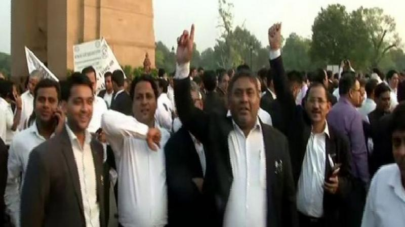 The lawyers announced to resume work from Saturday after a general meeting on the matter in a Delhi court on Friday here.  (Photo: ANI)