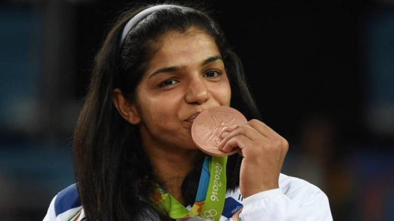 Olympic bronze medallist Sakshi Malik was on Saturday named in the Indian women's wrestling team for next year's Commonwealth Games in Gold Coast.(Photo: PTI)