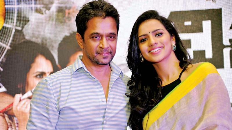 File photo of Arjun Sarja with Sruthi Hariharan