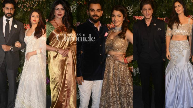 After a private wedding in Italy, Virat Kohli and Anushka Sharma held their wedding reception in Mumbai on Tuesday, their second after another reception in Delhi last week. (Photo: Viral Bhayani)