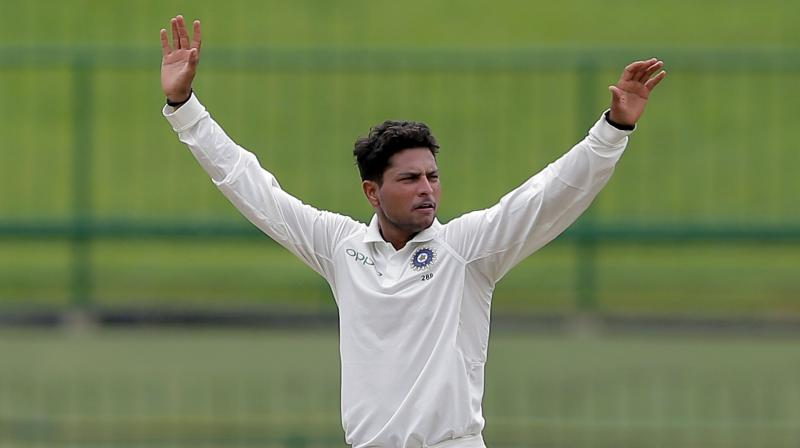 Chinaman bowler Kuldeep Yadav was ruled out of the final Test due to a shoulder injury. (Photo: AP)