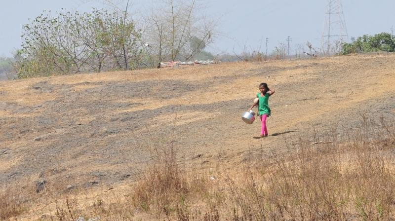 Common people of this area have been subjected to years of constinuous drought situation despite the Tansa Dam being within a twenty kilometre range. (Photo: Deccan Chronicle | Debasish Dey)
