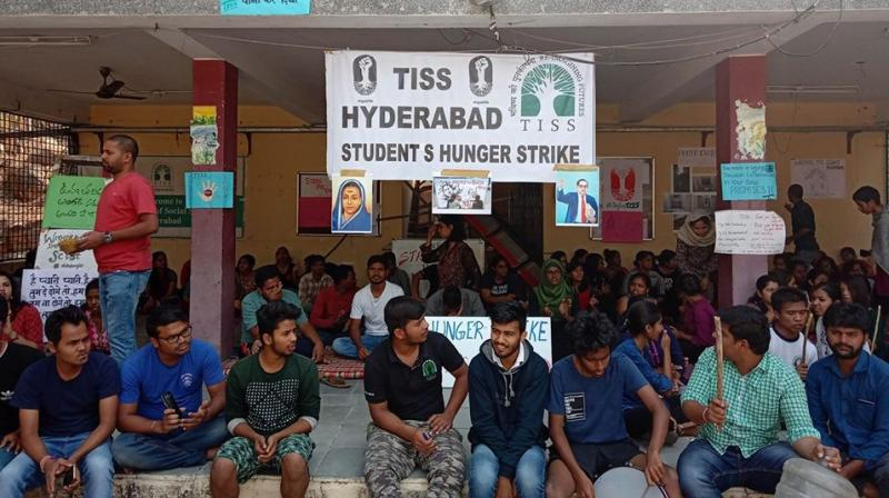 A TISS Hyderabad representative said on Monday night that the hunger strike is the last step and is an ultimatum to the Ministry of Human Resource and Development and University Grants Commission. (Photo: Facebook)