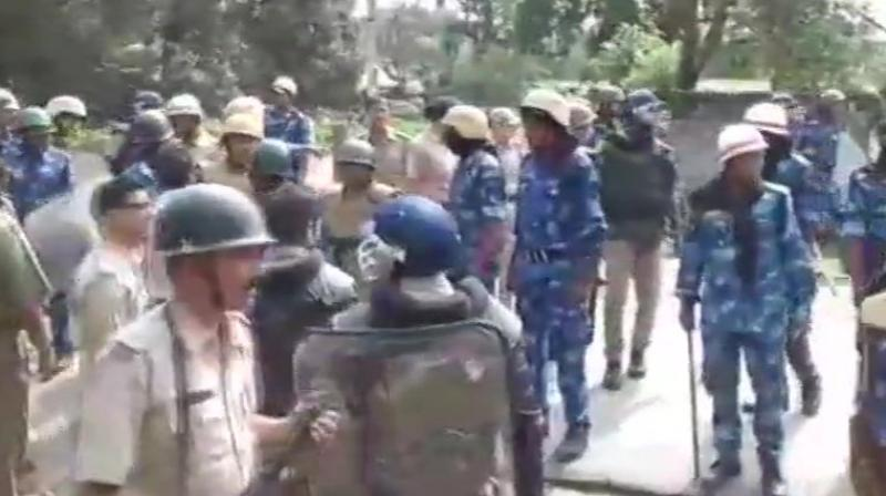 The poll panel has asked the state government and the police to make elaborate security arrangements so that polling can be held in a free and fair manner. (Photo: ANI | Twitter)