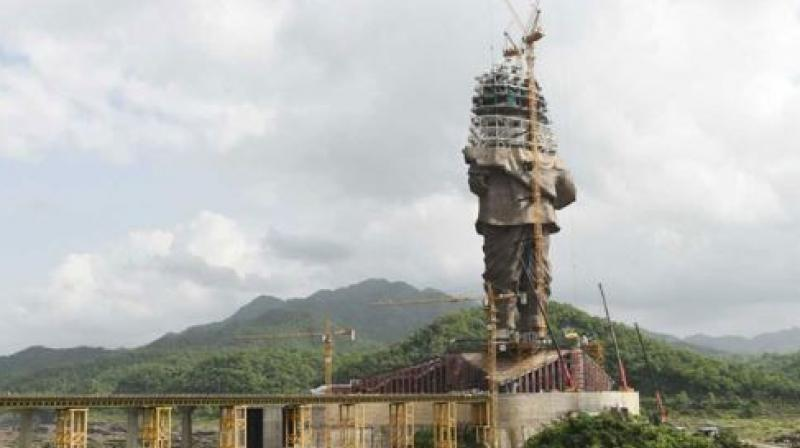 It has been called as statue of unity by the Gujarat government. (Photo: AFP)