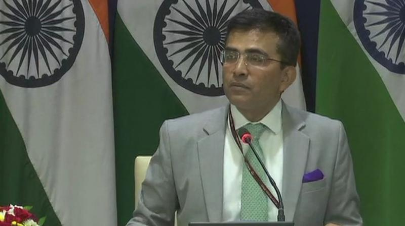 Kumar said India has been taking up the issue with Pakistan on inclusion of the Sikh holy shrine in the protocol between India and Pakistan on visit to religious shrines. (Photo: ANI | Twitter)