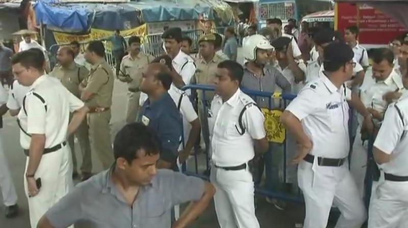 A huge police contingent was rushed to the spot to bring the situation under control, the official said. (Photo: ANI | Twitter)