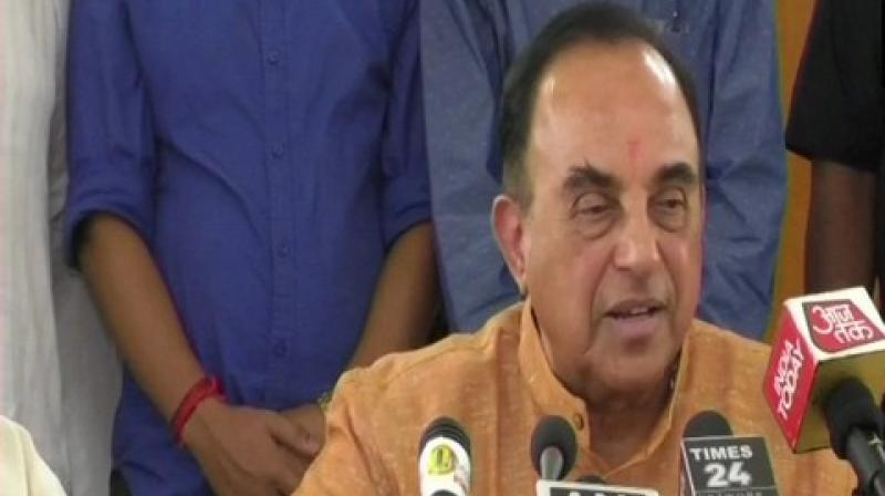 Swamy's statement comes after Swaraj on Saturday used the United Nations platform to highlight the serious issue of Pakistan-sponsored cross-border terrorism and human rights violations in India. (Photo: ANI)