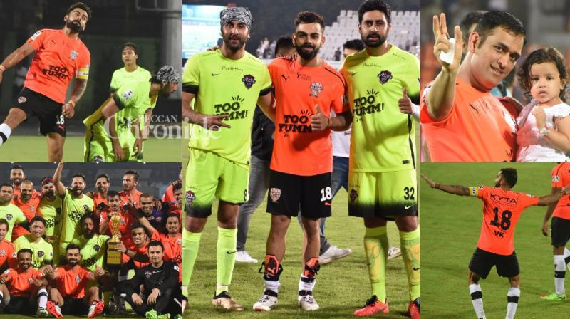 The Celebrity Clasico football match was held in Mumbai on Sunday where All Stars team consisting of Bollywood stars locked horns with All Heart team led by cricketers on Sunday. (Photo: Viral Bhayani)