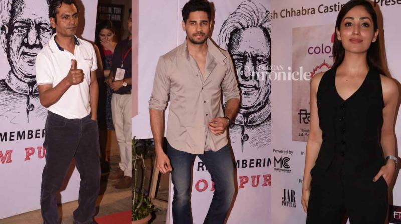 Bollywoood stars were snapped on day one of the Khidkiyaan theatre fesitval held in Mumbai on Wednesday. (Photo: Viral Bhayani)