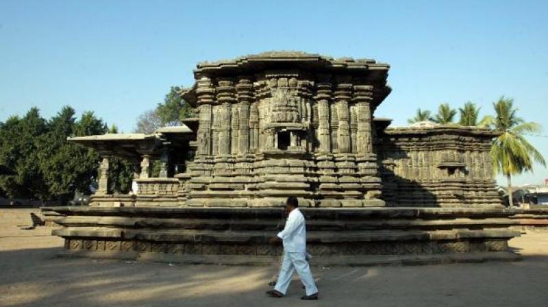 Thousand Pillar Temple in Warangal. (Photo: AFP)