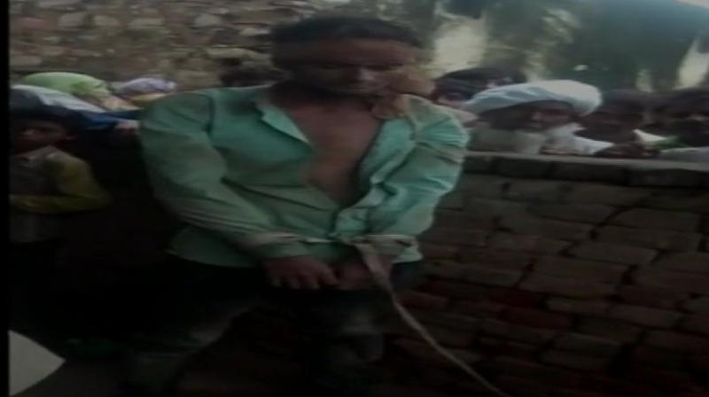 The man was shifted to the hospital as he sustained injuries on his head. (Photo: ANI)