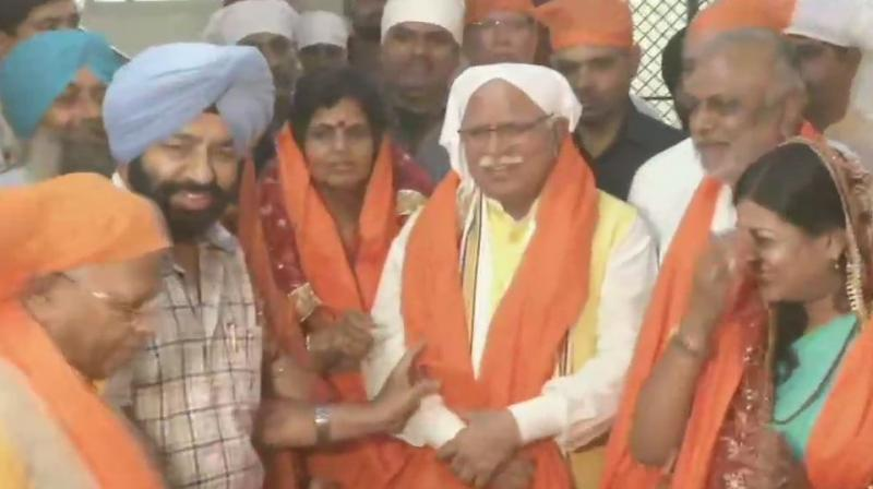 Khattar, who is BJP's first Chief Minister in Haryana is seeking to secure his seat in the elections to be held later this year.  (Photo: ANI)