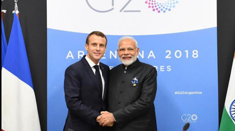 Prime Minister Narendra Modi is all set to hold bilateral talks with French President Emmanuel Macron during his two-day state visit to France from August 22 with an aim to strengthen cooperation in the fields of defence, maritime security, counter-terrorism, and civil nuclear energy along with robust trade and investment relations. (Photo: Twitter/ ANI)