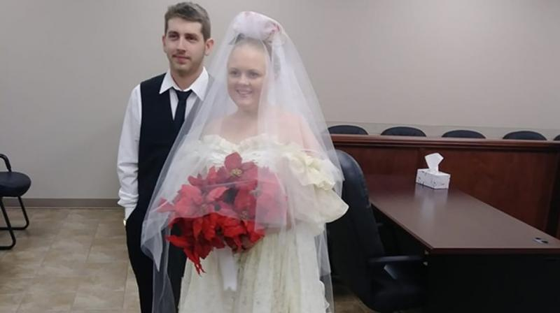 Nineteen-year-old Morgan and 20-year-old Boudreaux were pronounced dead Friday at the scene by the same justice of the peace who had just married them. (Photo: Facebook/ Christina Fontenot)