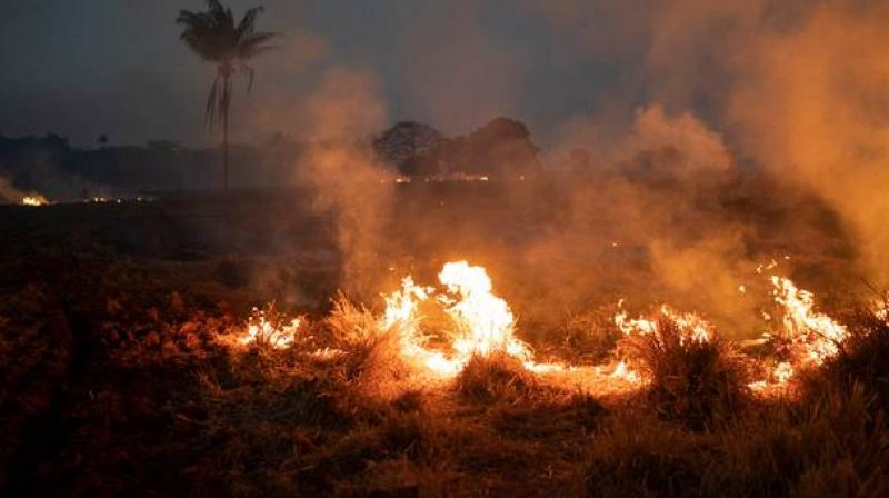 A record number of fires ravaging the Amazon has drawn international outrage because of the rainforest's importance to the global environment and prompted Brazilian President Jair Bolsonaro to dispatch the military to assist in firefighting. (Photo: AP)
