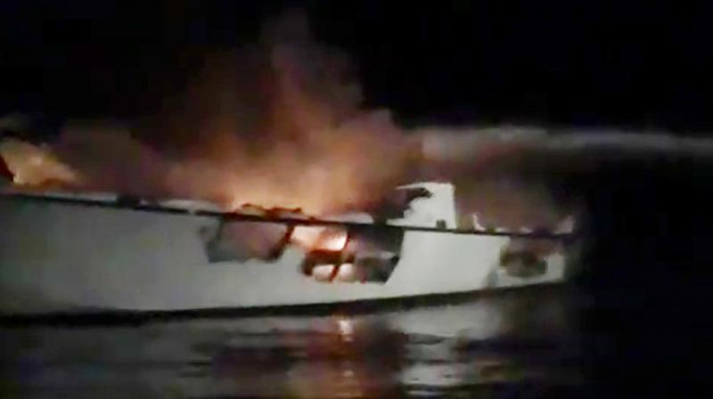 All six crew members were asleep aboard a scuba diving boat off the Southern California coast in violation of Coast Guard rules when a fire broke out in the middle of the night, killing 34 people who were trapped in a bunkroom below the main deck, US authorities have said. (Photo: File)