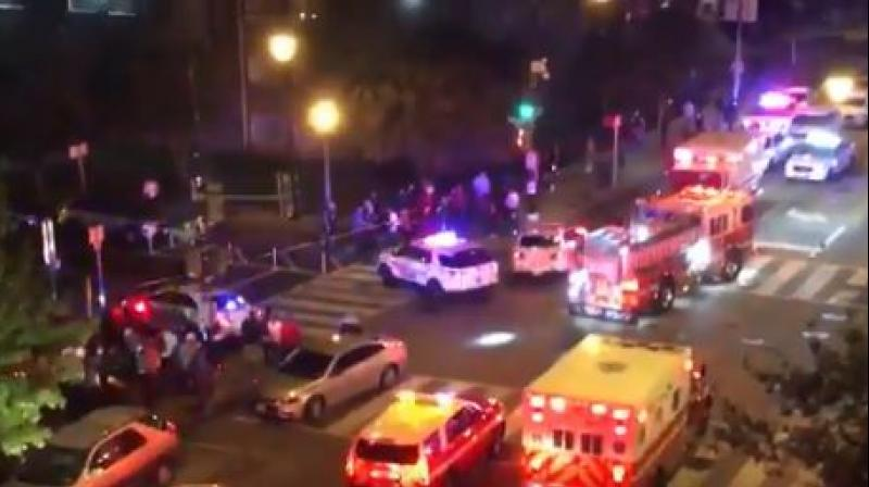 Local media posted images on Twitter of ambulances carrying victims from the scene. (Photo: Twitter screengrab/ @chriscollison)