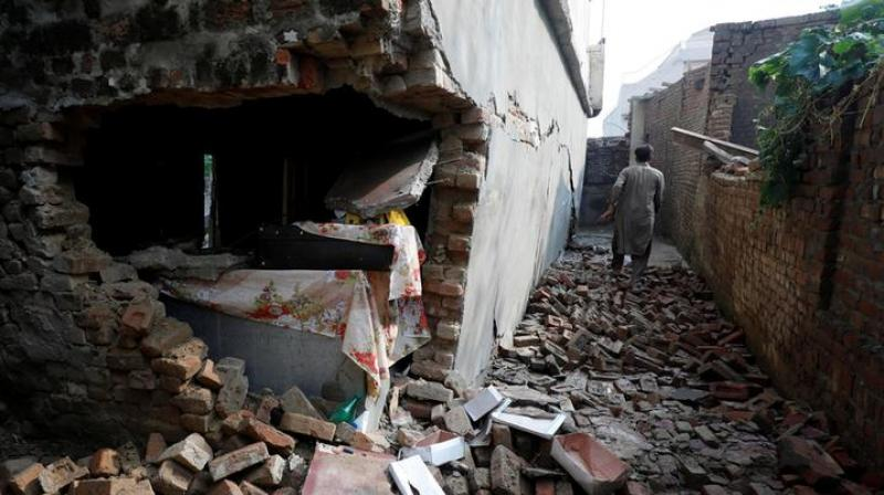 The death toll from the 5.8-magnitude earthquake that jolted parts of Pakistan occupied Kashmir (PoK) on Tuesday evening, has mounted to 37. (Photo: ANI)