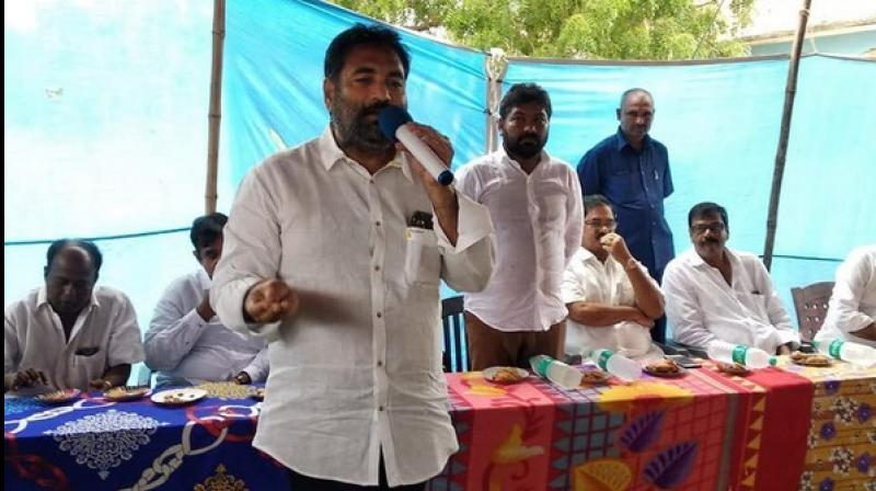 A government officer here accused ruling YSRCP MLA K Sridhar Reddy of threatening her family members after she refused to grant a favour to him. (Photo: ANI)