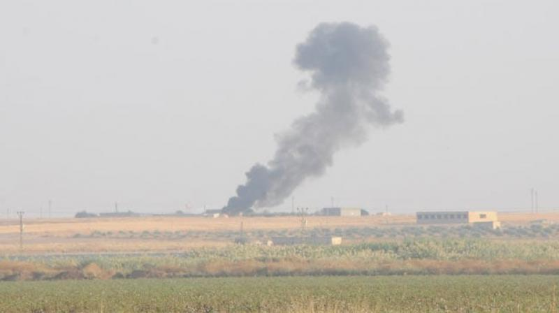 Turkish media said several mortar shells had landed on the Turkish side of the border but there were no casualties. (Photo: AP)