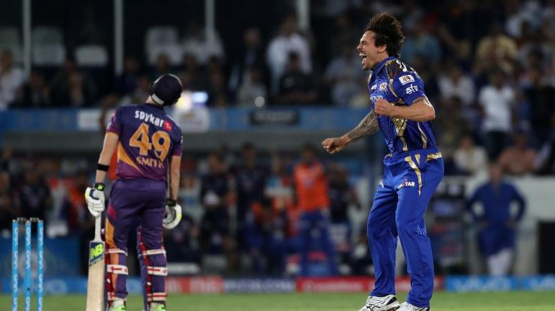 Rohit Sharma praised Australian left-arm pacer Mitchell Johnson, who bowled the last over, for turning the match in Mumbai Indians' favour. (Photo: BCCI)