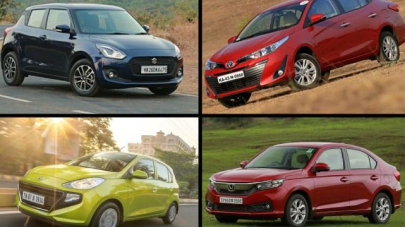 Here's a list of top ten most popular cars in terms of sales numbers priced under Rs 10 lakh that were launched in India this year.