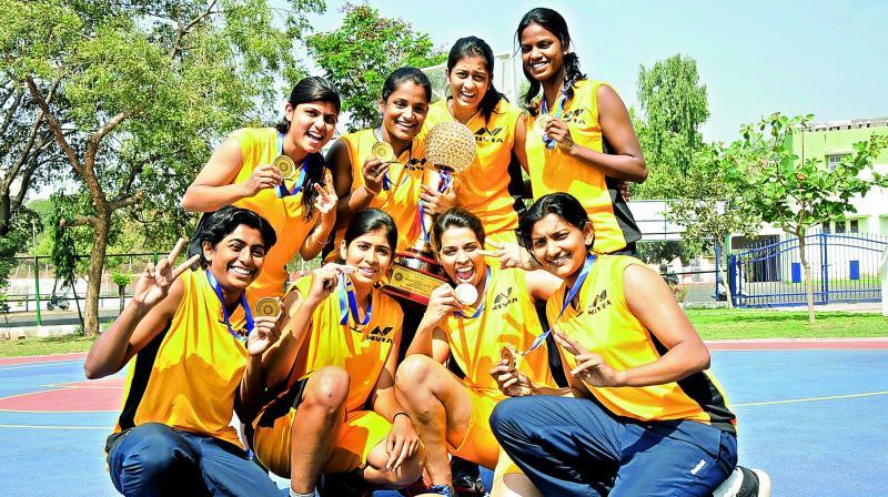 (From top left) Kiran, Aishwarya, Nidhi, Ramya, Suganya, Tritty, Purnima, Anusha