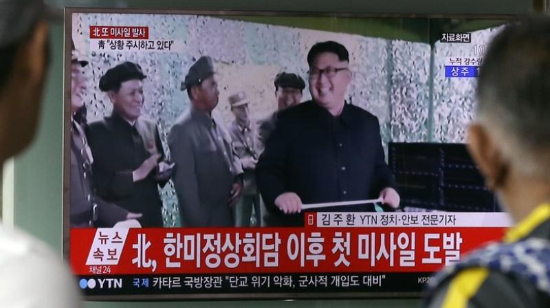 North Korean state media described leader Kim as