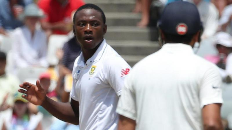 """""""We are slightly ahead and we are not going to give in. We need more hard work but we will take it at the end of the day,"""" said Kagiso Rabada. (Photo: BCCI)"""