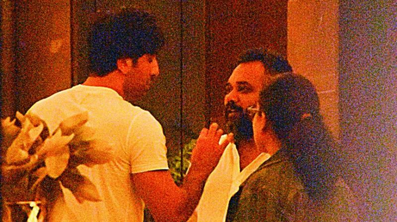 Ranbir and Deepika were spotted meeting Luv Ranjan.