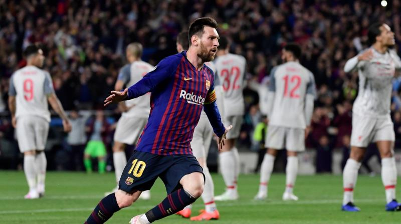 Liverpool matched Barcelona in the first half, dominated them early in the second and could still have left with an away goal after Messi's brilliant brace, only for Mohamed Salah to hit the post. (Photo: AFP)