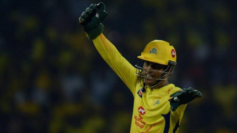 Dhoni smashed an unbeaten 44 off 22 balls to power Chennai Super Kings to 179 against Delhi Capitals on Wednesday night. (Photo: AFP)