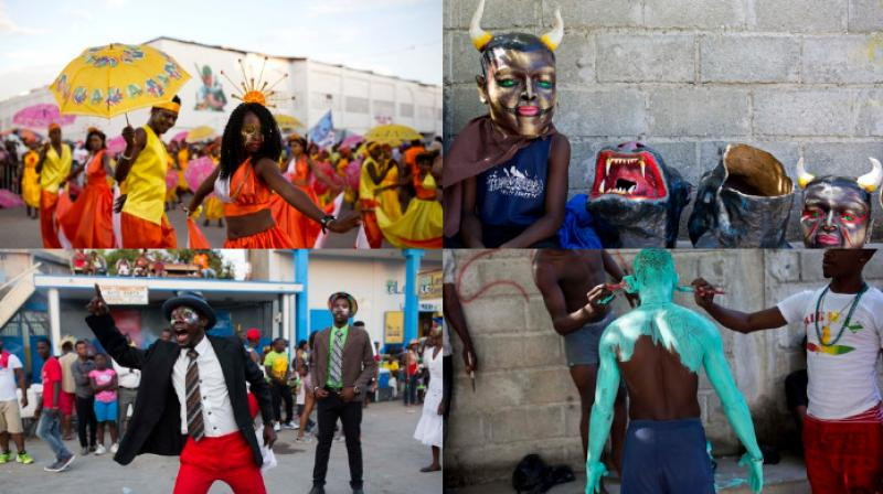 Haitians celebrate the last day of the carnival with drama, song and dance with a mixture of Catholic pre-Lenten festivities and African, Spanish and native cultures. (Photo: AP)