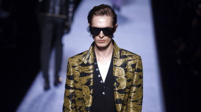 Tom Ford debuts men's underwear collection at New York Fashion Week. (Photos: AP)