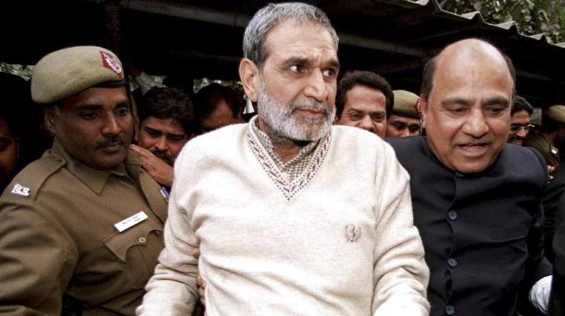 Sajjan Kumar was convicted and sentenced in killing of 5 Sikhs in Raj Nagar part-I area of Palam Colony in southwest Delhi on November 1-2, 1984, and burning down of gurudwara in Raj Nagar part II. (Photo: File | PTI)