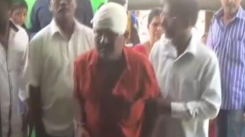 'In the early morning hours of Monday, Laxman attacked Kishan with an axe in Jagitial town after an argument,' police said. (Photo: ANI)