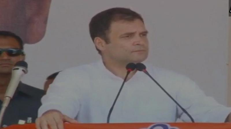 The Congress President was addressing an election rally at the St Stephen college grounds here in Kollam district. (Photo: ANI | Twitter)