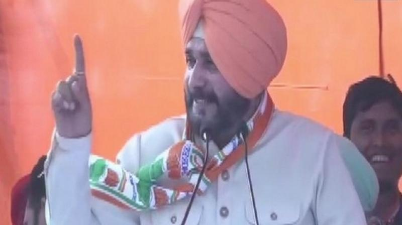 Earlier on April 11, Sidhu had slammed Prime Minister Narendra Modi, saying that the country will get finished if he becomes the Prime Minister for the second term. (Photo: ANI)